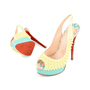 Authentic Second Hand Christian Louboutin Lady Peep Sling Spike Heels (PSS-197-00069) - Thumbnail 1