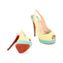 Authentic Second Hand Christian Louboutin Lady Peep Sling Spike Heels (PSS-197-00069) - Thumbnail 2