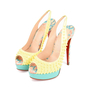 Authentic Second Hand Christian Louboutin Lady Peep Sling Spike Heels (PSS-197-00069) - Thumbnail 3