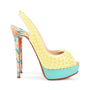 Authentic Second Hand Christian Louboutin Lady Peep Sling Spike Heels (PSS-197-00069) - Thumbnail 4
