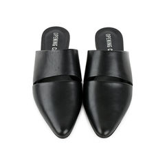 Livre Open-Back Leather Slides