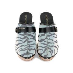 Zebra Slip-on Mules