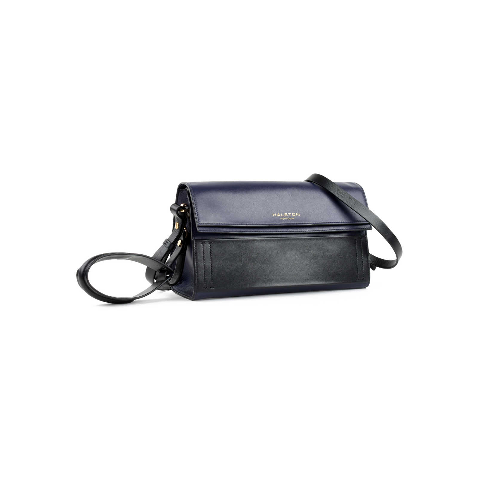 ... Authentic Second Hand Halston Heritage Foldover Crossbody Clutch Bag  (PSS-474-00002) ... 10dd2574f2fd2