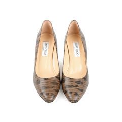 Irena Lizard-Print Pumps