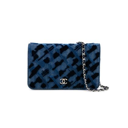 Chanel Denim Velvet Wallet On Chain