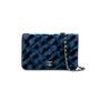 Chanel Denim Velvet Wallet On Chain - Thumbnail 0
