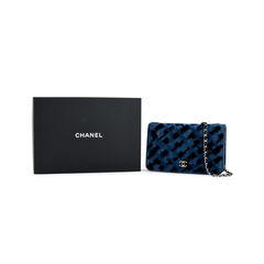 Chanel denim velvet wallet on chain 2?1525244308