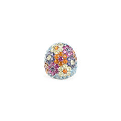 Pasquale bruni multicoloured pave ring 2?1525410832