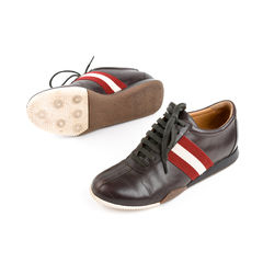 Bally moka calfskin trainers brown 2?1525411158