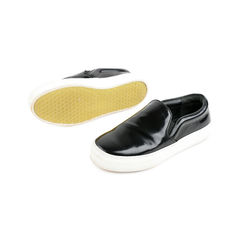 Celine black patent leather slip on sneakers 2?1525675231