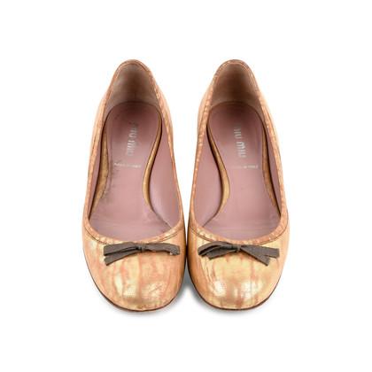 Authentic Second Hand Miu Miu Bow Ballet Flats (PSS-466-00047)