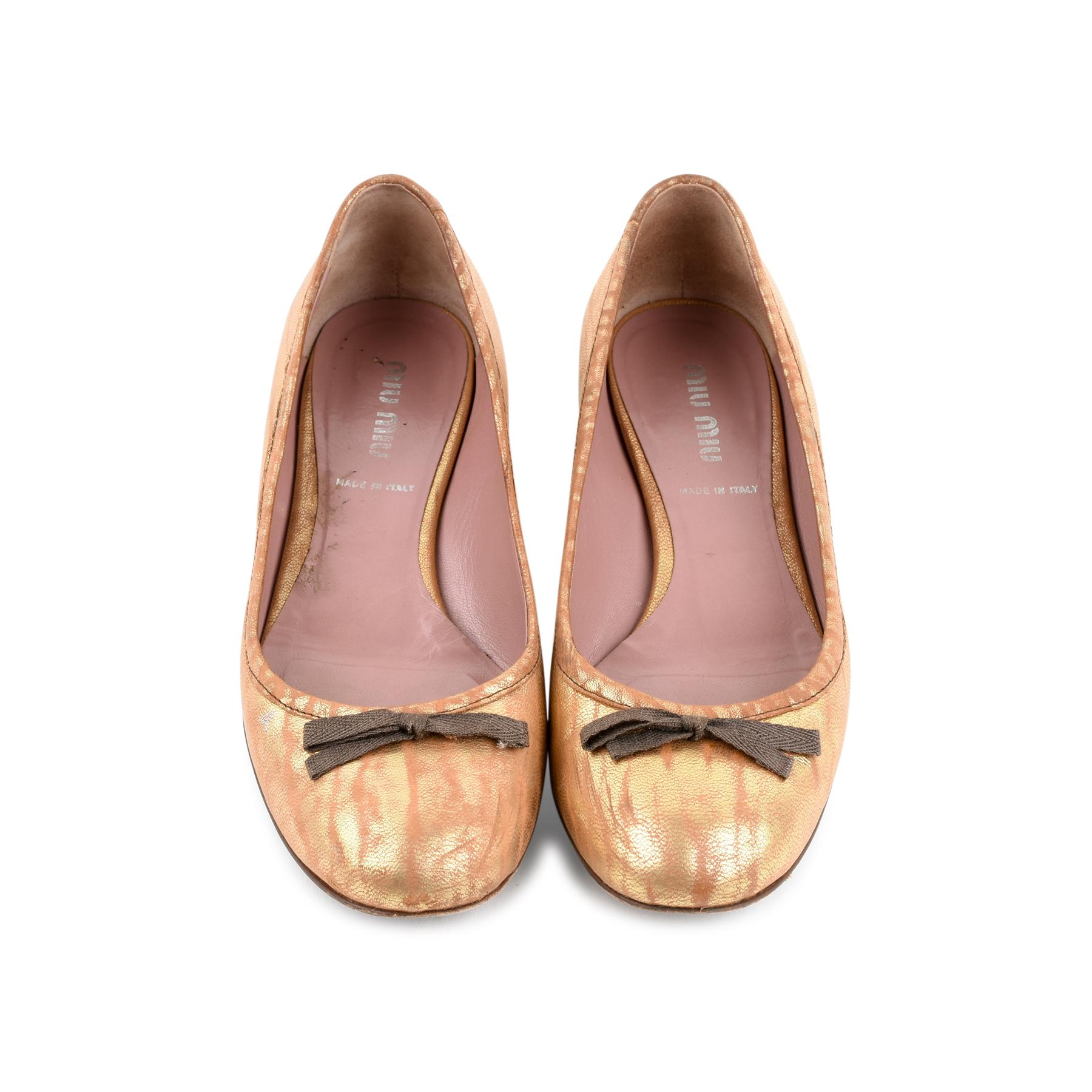 9e5db7c46f7 Authentic Second Hand Miu Miu Bow Ballet Flats (PSS-466-00047)