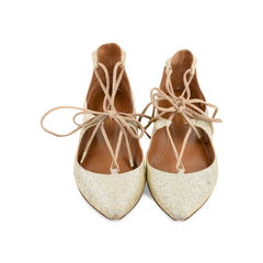 Christy Lace-up Sparkle Flats