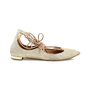 Authentic Second Hand Aquazzura Christy Lace-up Sparkle Flats (PSS-466-00018) - Thumbnail 4