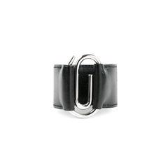 Box Leather Paperclip Bracelet