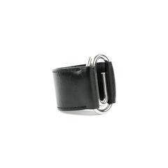 Hermes black leather paperclip bracelet 2?1525676357