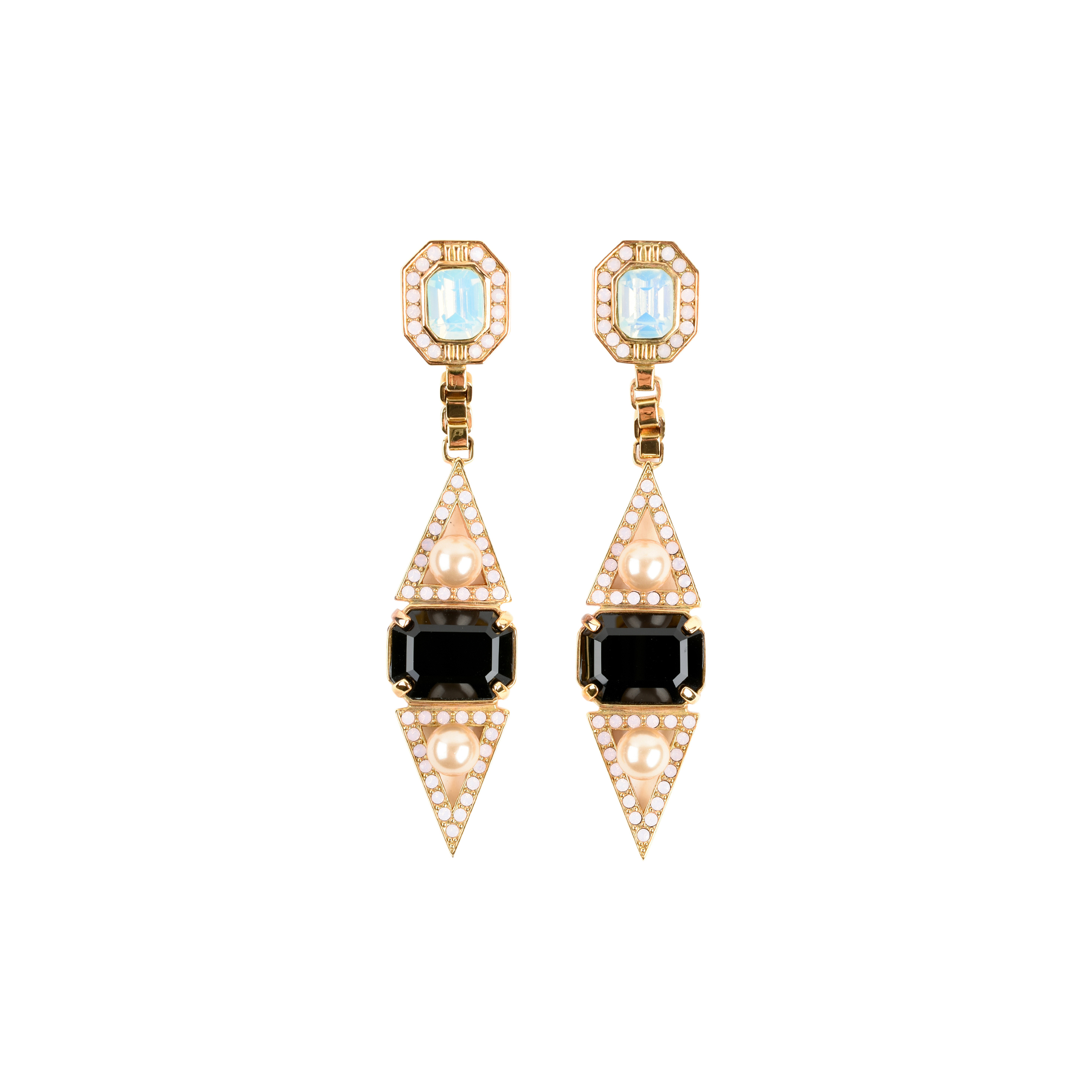 Authentic Pre Owned Mawi Rose Gold Pearl Drop Earrings Pss 466