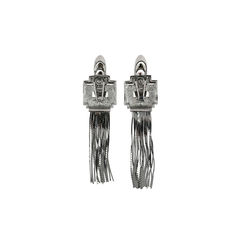 Mawi hematite plated flapper fringe earrings 2?1525676583