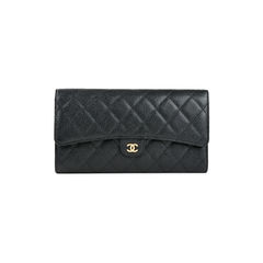 Quilted Caviar Long Wallet