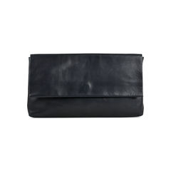 Rope Tie Leather Clutch