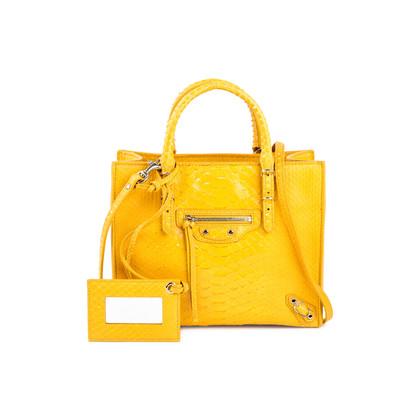 Authentic Pre Owned Balenciaga Papier A4 Mini Python Bag (PSS-240-00209)
