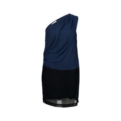 Bicolour Toga Dress