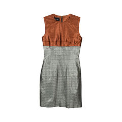 Metallic Two-Tone Dress