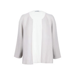 Two Tone Cashmere Cardigan