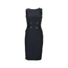 Sleeveless black sequinned dress