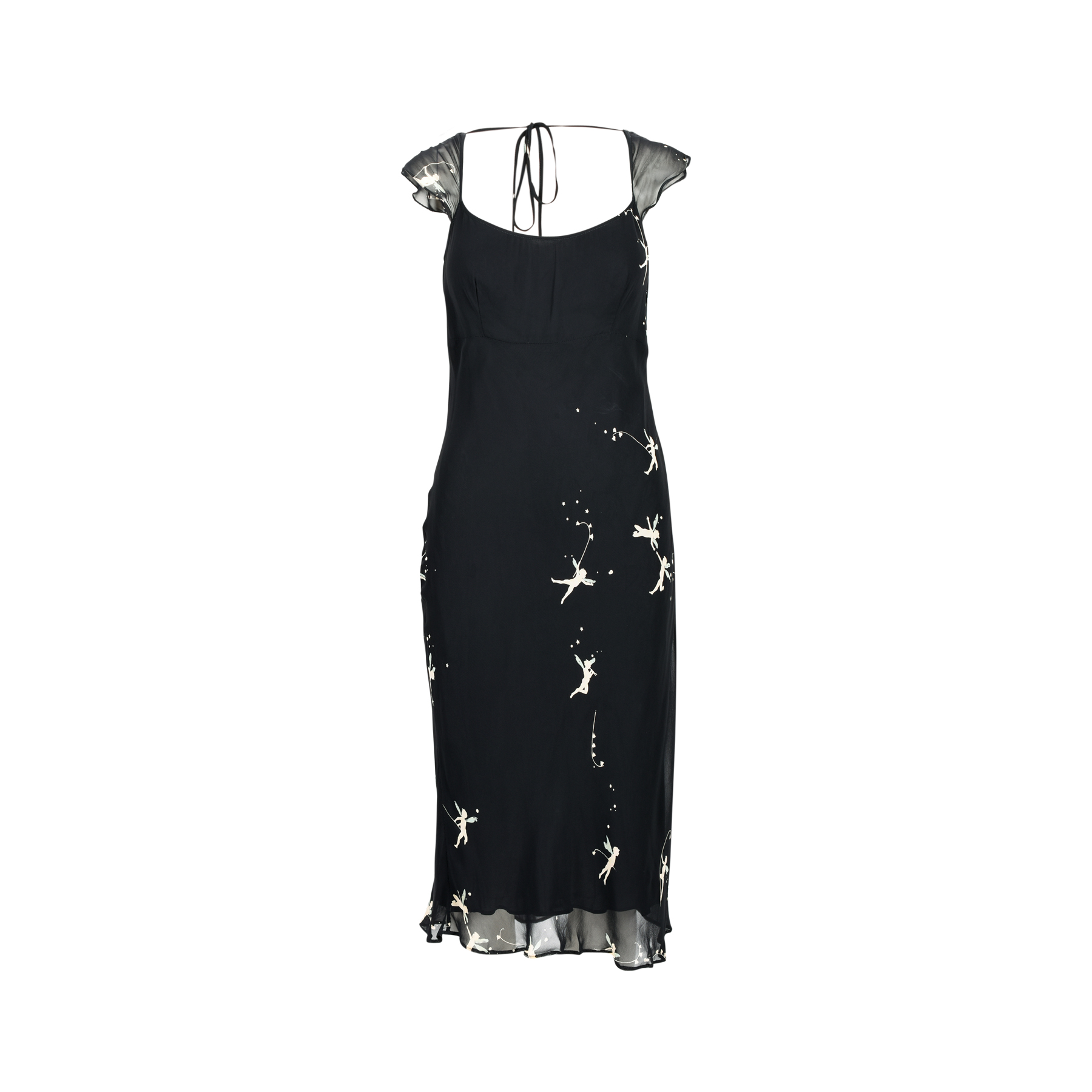 dba3a8fe6a3f Authentic Second Hand Moschino Black Fairy Print Dress (PSS-463-00001) -  THE FIFTH COLLECTION