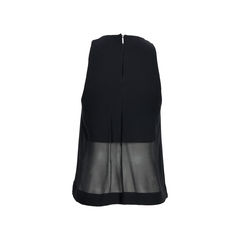 Dion lee black sheer hem top 3?1525945677