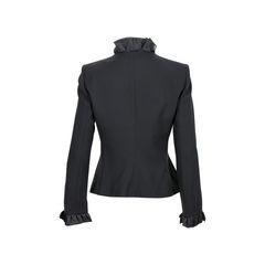 Armani collezioni ruffled trim blazer 2?1526017964