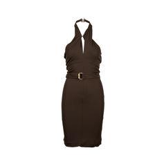 Clasp Halter Dress
