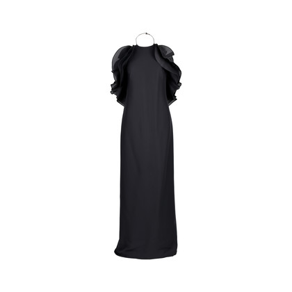 Authentic Second Hand Gucci Halter Neck Ruffled Gown (PSS-473-00021)