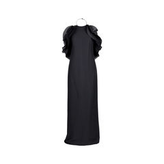 Halter Neck Ruffled Gown