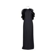 Halter Neck Ruffled Gown