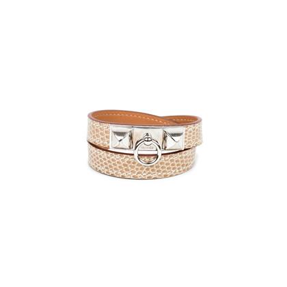Hermes Lizard Rivale Double Tour Bracelet