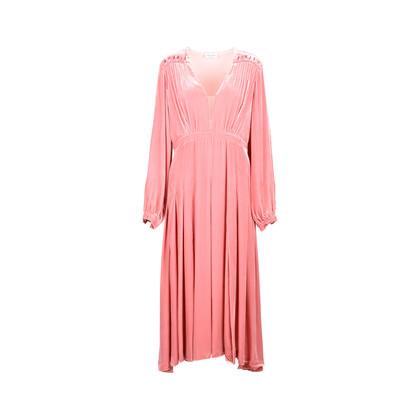 Authentic Second Hand Raquel Diniz Velvet Midi Dress (PSS-470-00018)