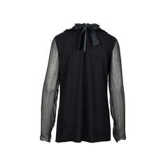 Lanvin embellished collar top 2?1526291073