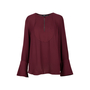 Authentic Second Hand Theory Flared Sleeve Key-Hole Blouse (PSS-470-00032) - Thumbnail 0