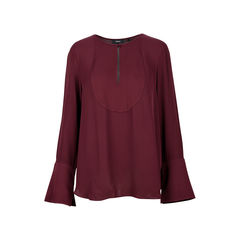 Flared Sleeve Key-Hole Blouse