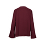 Authentic Second Hand Theory Flared Sleeve Key-Hole Blouse (PSS-470-00032) - Thumbnail 1