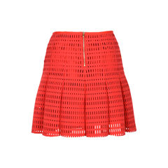 Sandro neoprene flared skirt red 2?1526353444