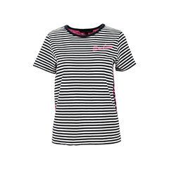 Leopard Print Stripe Jersey T-Shirt