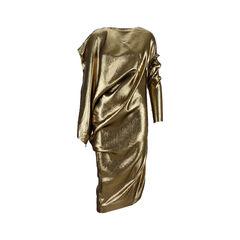 Lamé Draped Dress