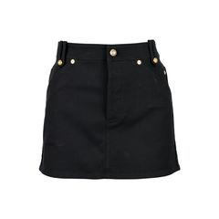 Button Denim Miniskirt
