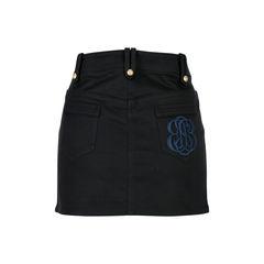 Balenciaga button denim miniskirt 2?1526872447