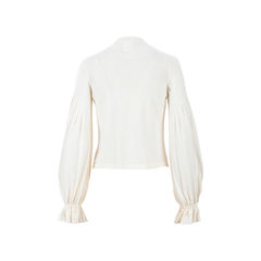 Chanel puffed sleeve cardigan 2?1526872490