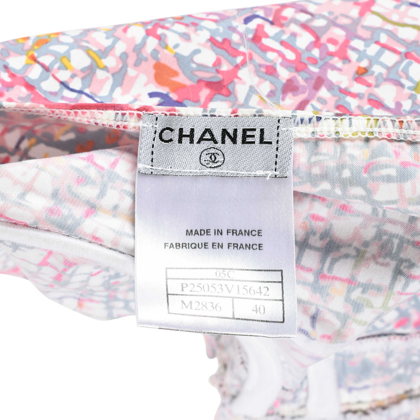 6005bb0aef7 ... Authentic Pre Owned Chanel Watercolour Tweed Print Dress (PSS-200-00527)  -