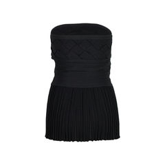 Chanel sleeveless black heat pleated top 2?1526964071